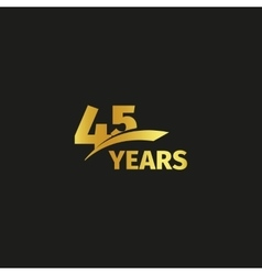 Isolated abstract golden 45th anniversary logo on vector