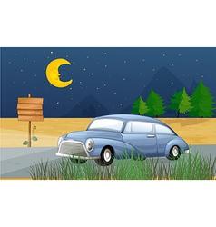 Midnight Car Ride vector image