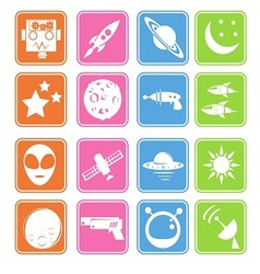Outer space icon basic style vector