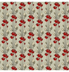 Floral seamless pattern with rose vector image