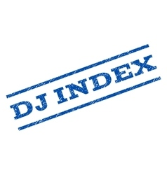 Dj index watermark stamp vector