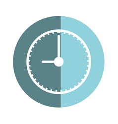 sticker clock to know the time of day vector image