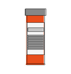 Medication bottle healthcare icon image vector
