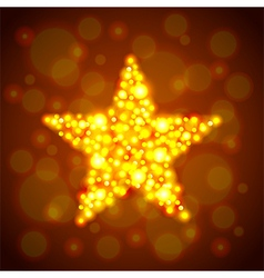 Gold glowing star background vector