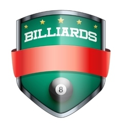 Billiards shield badge vector
