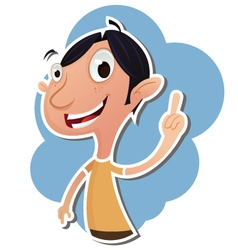 Cartoon man showing forefinger vector