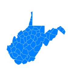 Map of West Virginia vector image