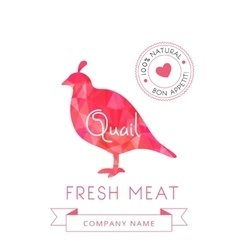Image meat symbol quail silhouettes of animal for vector