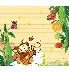 Little boy with floral vector