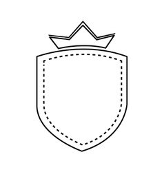 Badge with crown isolated design vector