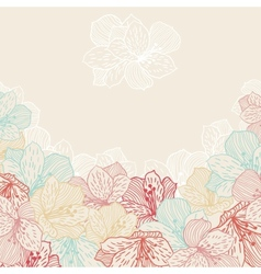 Abstract elegance seamless flower background with vector image vector image