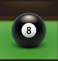 Billards Eight Ball vector image