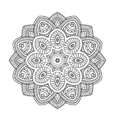 black floral mandala vector image vector image