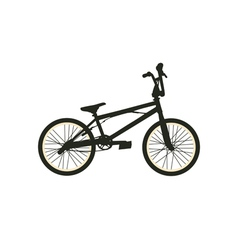 Bmx bike black silhouette vector