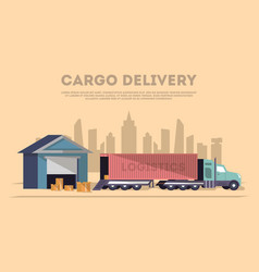 Cargo delivery and logistics banner vector