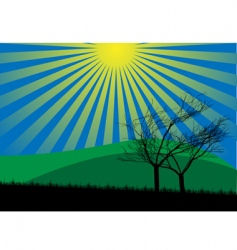 countryside vector image