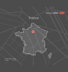 Dotted france map vector