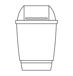 Dustbin icon outline style vector