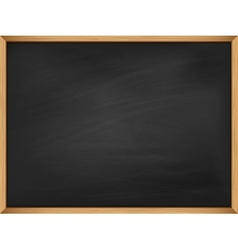 Empty blackboard with wooden frame Template vector image vector image