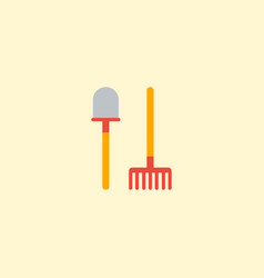 flat icon shovel element of vector image vector image