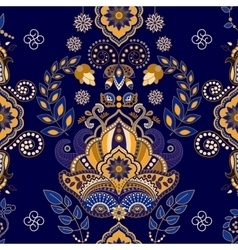 Floral paisley seamless pattern vector