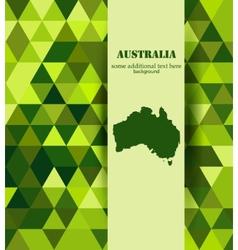 Grenn Australis mosaic background vector image vector image