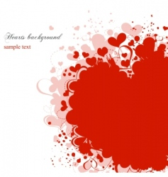 grunge hearts background vector image vector image