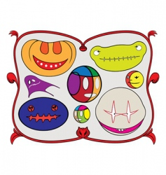 Halloween monsters vector image vector image