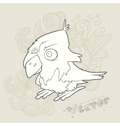 hand drawn retro cartoon bird vector image