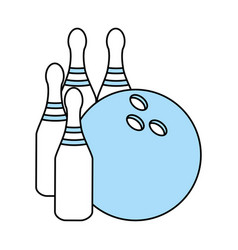 isolated bowling ball and pin design vector image