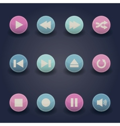 Media player web icons vector image vector image