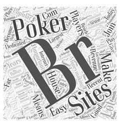 Online poker sites word cloud concept vector