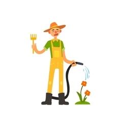 Profession gardener vector