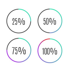 Progress bar icons vector
