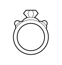 sketch silhouette image diamond engagement ring vector image vector image