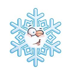 Snowflake Head Winging vector image vector image