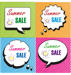 summer sale speech bubbles collection vector image vector image