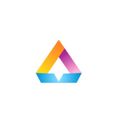 triangle arrow color logo vector image vector image
