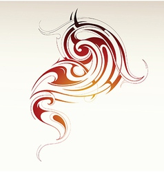 Tribal smoke vector image vector image