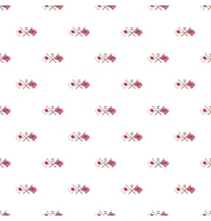 UK and Japan flags crossed pattern cartoon style vector image