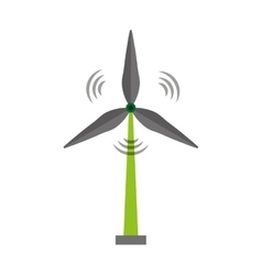 wind energy isolated icon vector image