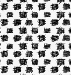 Black marker drawn simple scribble squares vector