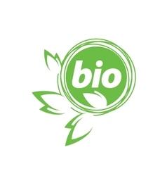 Logo bio vector
