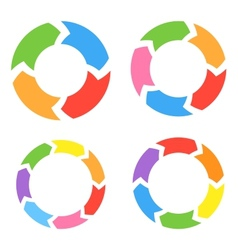 Color circle arrows set vector