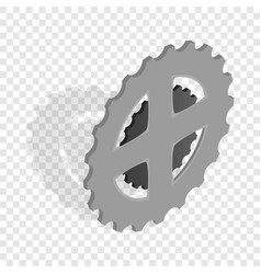 bike chain star isometric icon vector image