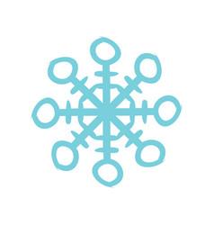 christmas snowflake icon flat vector image