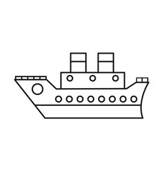 Boat cruise travel sea thin line vector