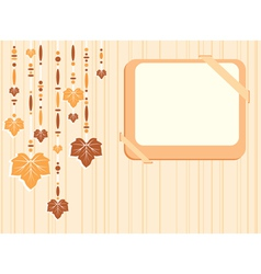 Retro autumn frame vector