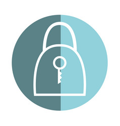 Sticker padlock security tool service vector