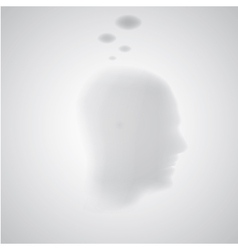 thinking silhouette vector image